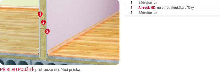 Zateplení příček Airrock HD