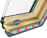Zasklení - střešní okno ROTO R6 - dřevo