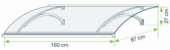 Rozměry vchodové stříšky Swing PC