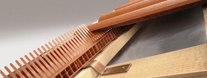 Větrací mřížka - plastová - použití ve střeše