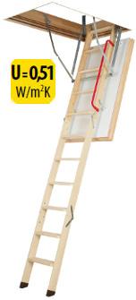Zateplené půdní schody FAKRO LWT