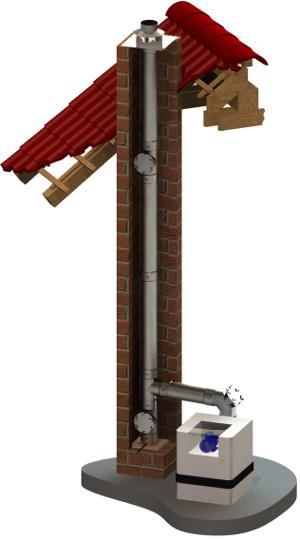 Jednoplášťový nerezový komínový systém 0,6 mm
