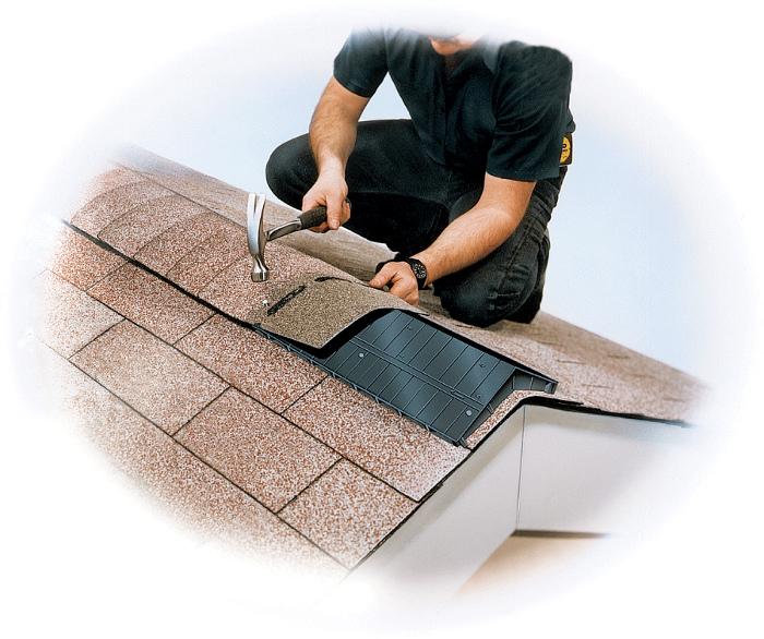 Odvětrávací tvarovka šindelových střech