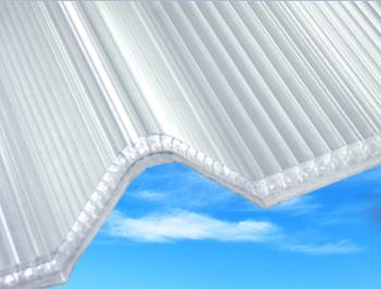 Panel z polykarbonátu AKRALUX pro trapézové plechy