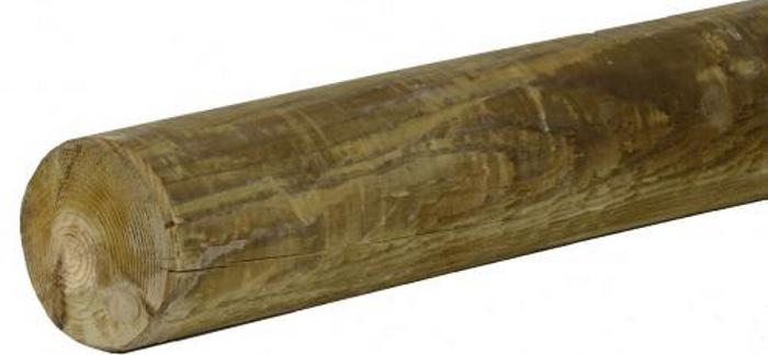 Dřevěná kulatina - sněhová zábrana