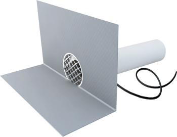 Boční vpusť - chrlič TOPWET TWCE PVC