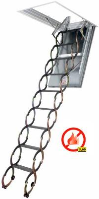 Stahovací protipožární půdní schody LSF - 300
