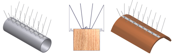 Ochranný systém proti ptákům H113 - použití