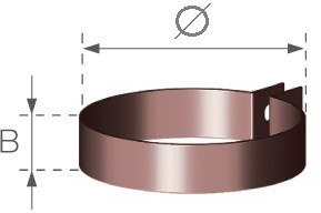 Objímka okapového PVC svodu