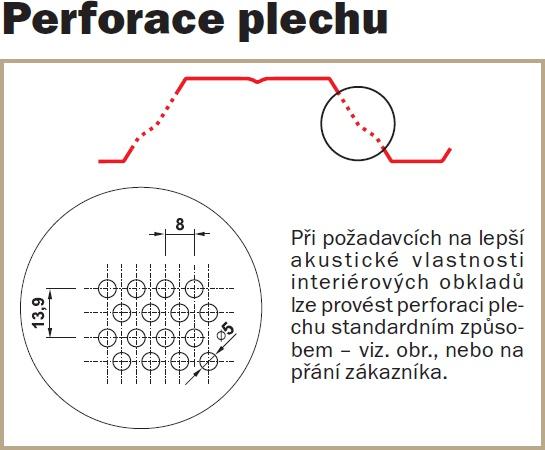 Perforace plechu - Trapézový plech SAT18 Polyester SP 50 μm
