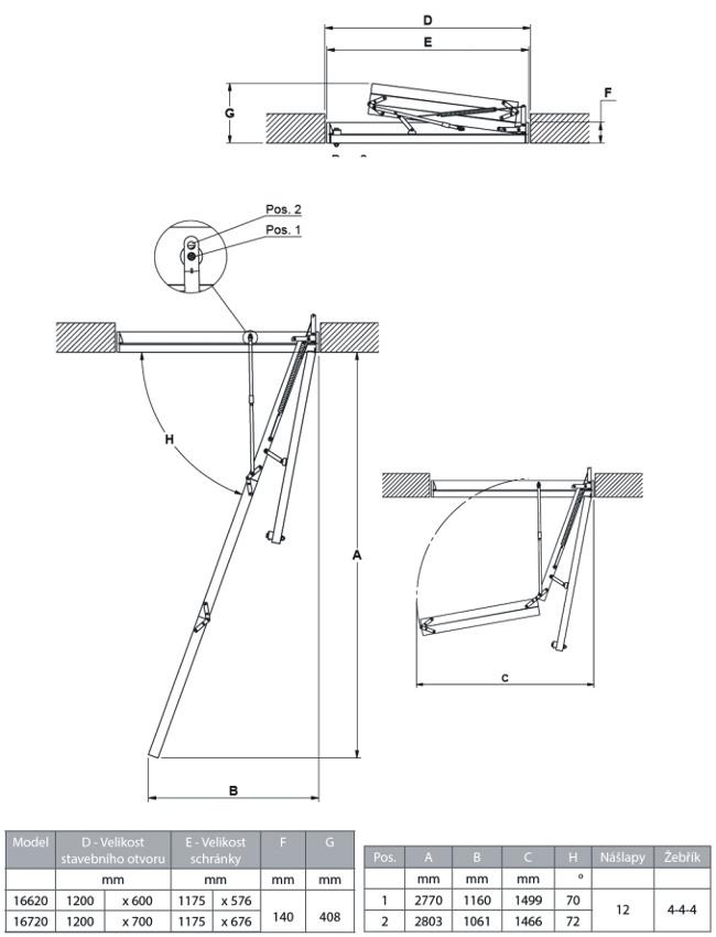 Návod montáž schodů DOLLE Clic FIX 56