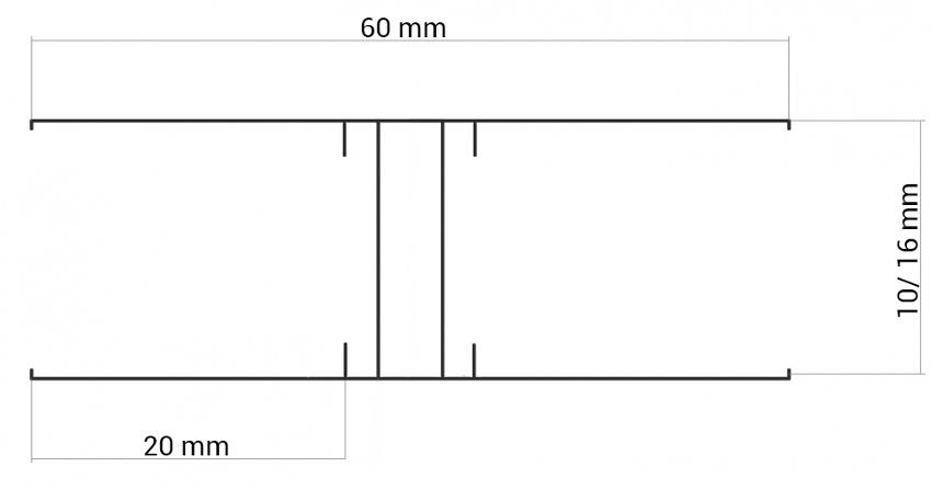 Spojovací lišta Guttaprofil ALU-H elox - detail