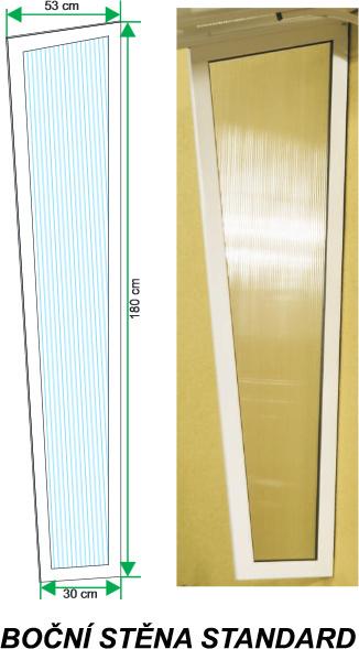 stříška a bočnice Gutta Standard