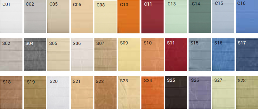 Barvy - okpol plisovaná roleta p40