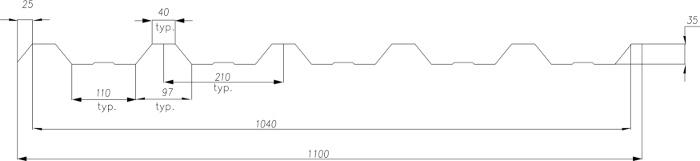 Technická data trapézového plechu T-35 Plus