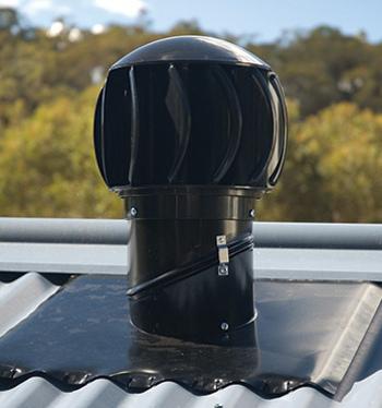 Ventilační turbína Edmonds Turboventura - set - černá