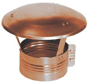 Měděná ventilační stříška