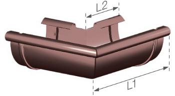 Roh žlabu PVC - vnější
