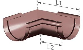 Roh žlabu vnitřní z kvalitního PVC