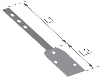 Pozinkovaná lišta k PVC žlabovému háku