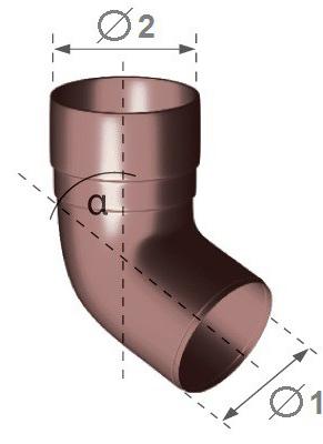 PVC koleno svodu GMT