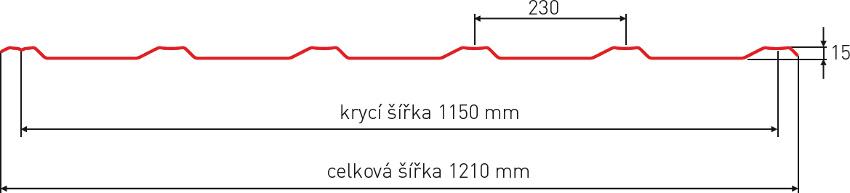Detail plechové krytinay Clara Karin