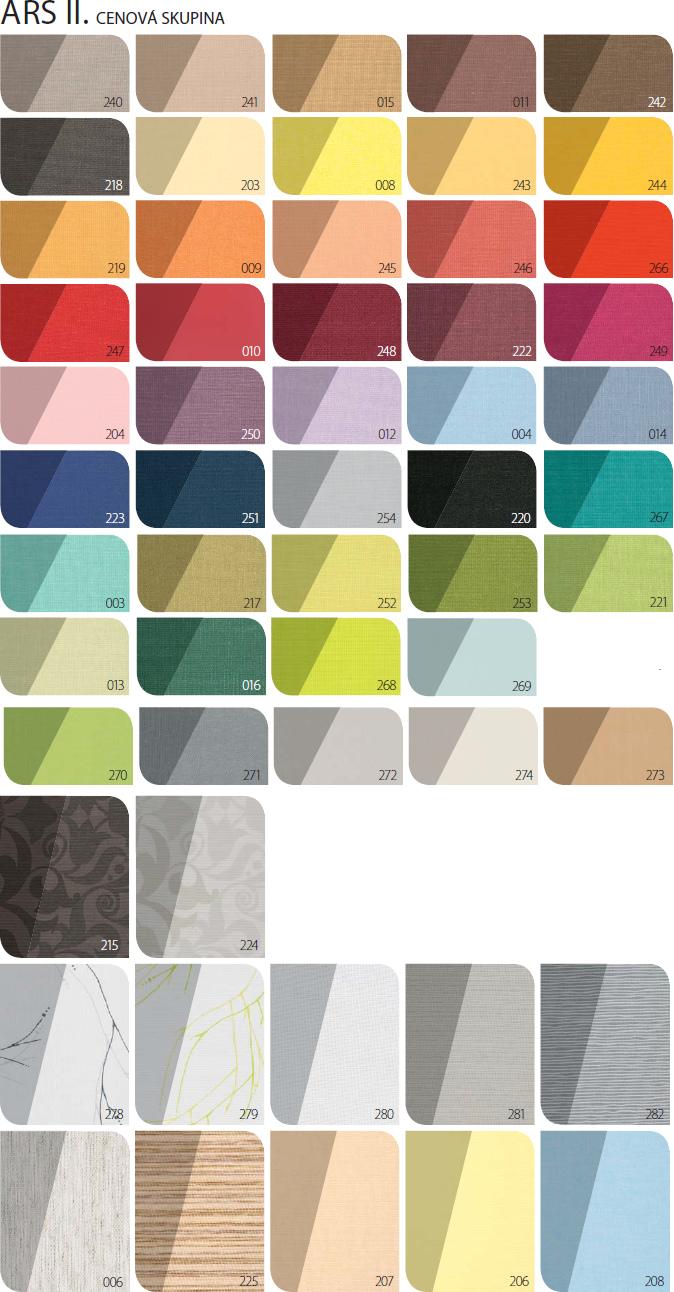 FAKRO ARS II - barvy