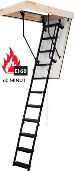 Termoizolační protipožární půdní schody OMAN Solid El60