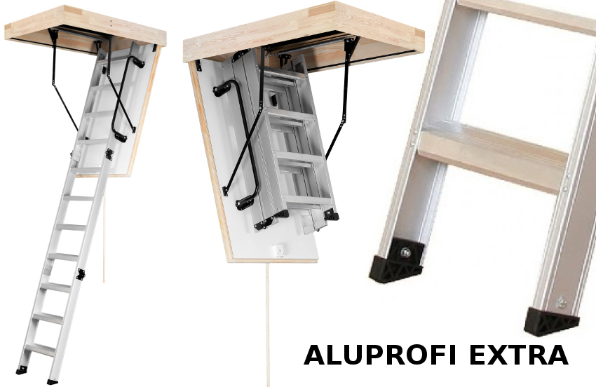 Hliníkové půdní schody OMAN Aluprofi Extra