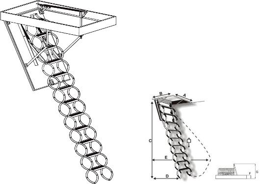 schody OMAN Flex Termo - zavírání
