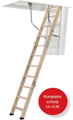 Skládací půdní schody DOLLE ClickFix 76 Termo