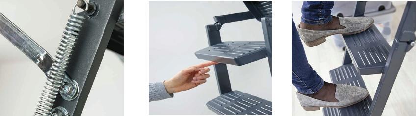 Ocelový žebřík - DOLLE Click Fix 75 - Comfort