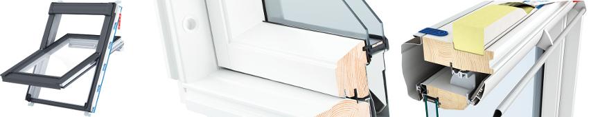 Střešní okno Keylite EASY WFBW - řez
