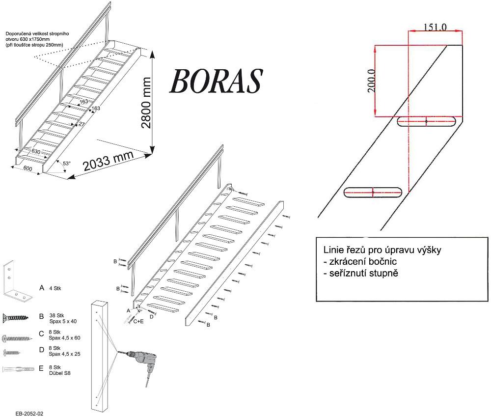 Minka Boras - schéma