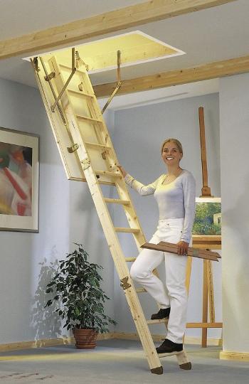 Skládací dřevěné půdní schody DOLLE KOMPAKT